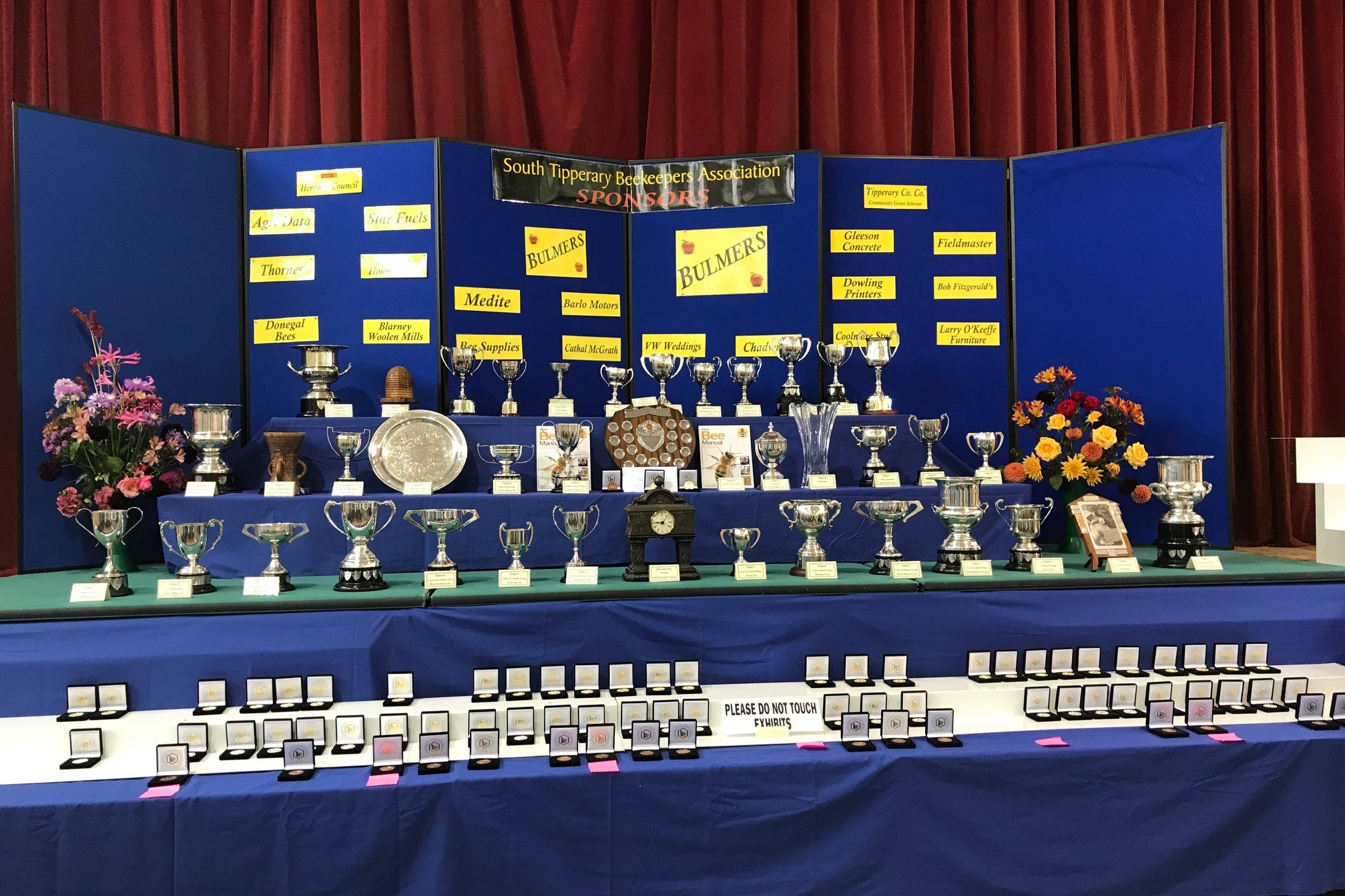Winners' Cups & Medals display